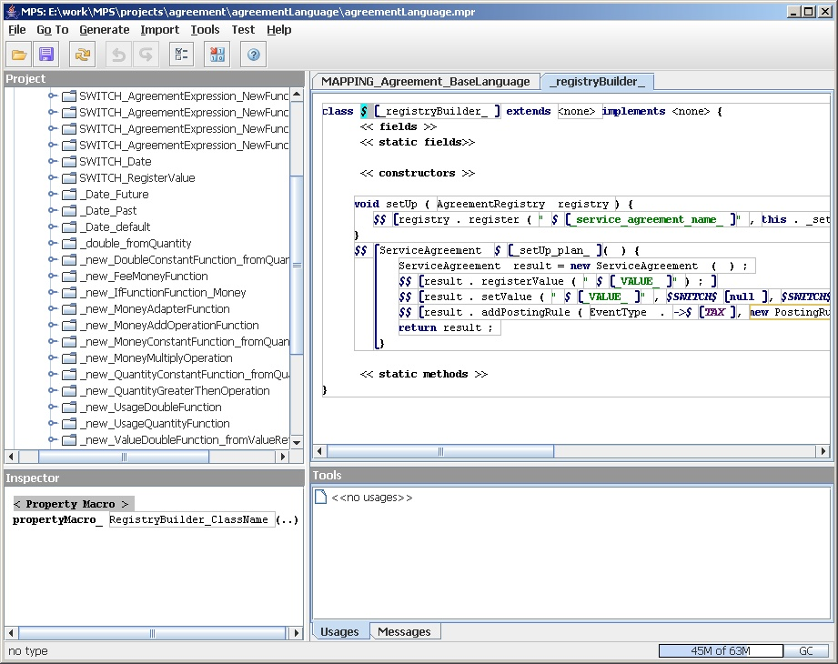 A Language Workbench in Action - MPS